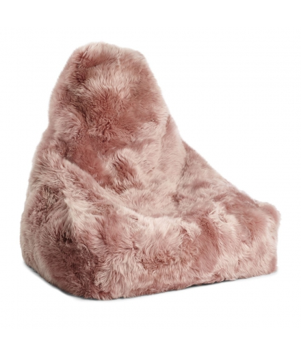 NC - Chair Beanbag, NZ Long-Wool Sheepskin: Rosa