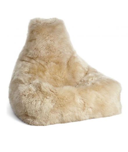NC - Chair Beanbag, NZ Long-Wool Sheepskin: Linen