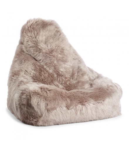 NC - Chair Beanbag, NZ Long-Wool Sheepskin: Dove