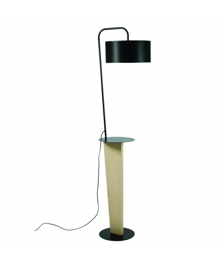 "Luzeva - ""LR Alex-noir"" Floor Lamp"