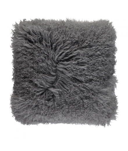 NC - Tibetian Sheepskin Cushion (one sided): Steel