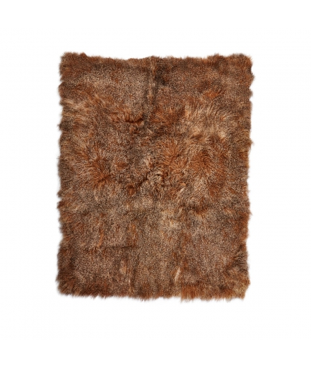 NC - tibetian sheepskin blanket: Sunset