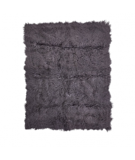 NC - tibetian sheepskin blanket: Steel