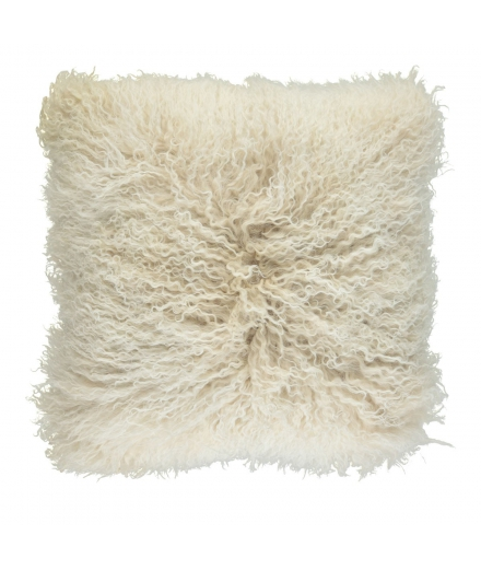 NC - Tibetian Sheepskin Cushion (one sided): Arctic Sunrise