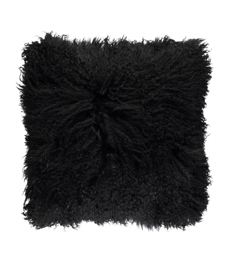 NC - Tibetian Sheepskin Cushion (one sided): Black