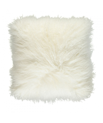 NC - Tibetian Sheepskin Cushion (one sided): Ivory