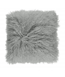 NC - Tibetian Sheepskin Cushion (one sided): Light Grey