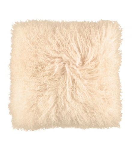 NC - Tibetian Sheepskin Cushion (one sided): Light Honey