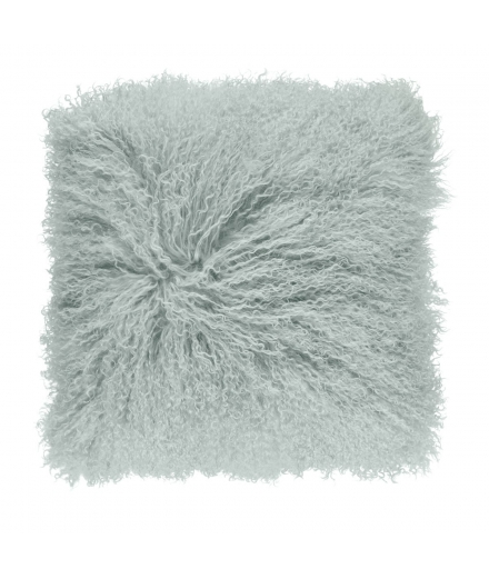 NC - Tibetian Sheepskin Cushion (one sided): Mint
