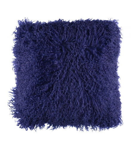 NC - Tibetian Sheepskin Cushion (one sided): Navy