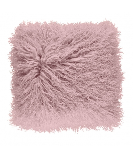 NC - Tibetian Sheepskin Cushion (one sided): Rosa