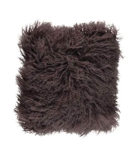 NC - Tibetian Sheepskin Cushion (one sided): Taupe