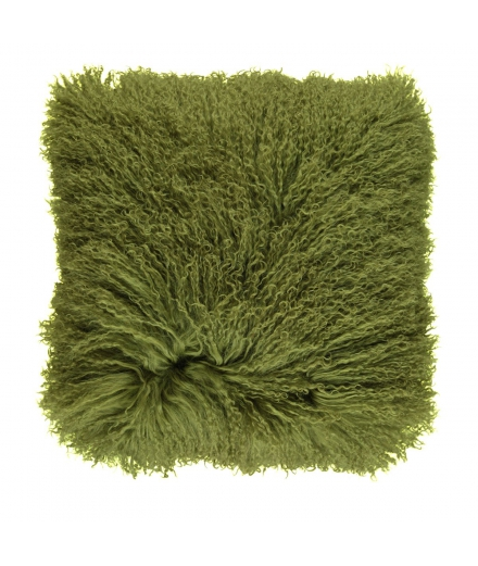 NC - Tibetian Sheepskin Cushion (one sided): Treetop