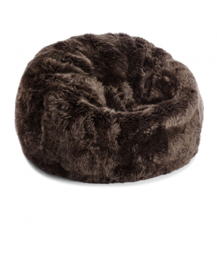NC - Beanbag, NZ Long-Wool Sheepskin: Walnut