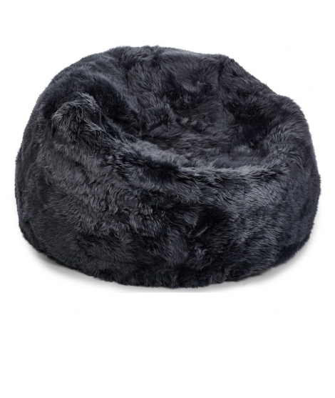 NC - Beanbag, NZ Long-Wool Sheepskin: Navy
