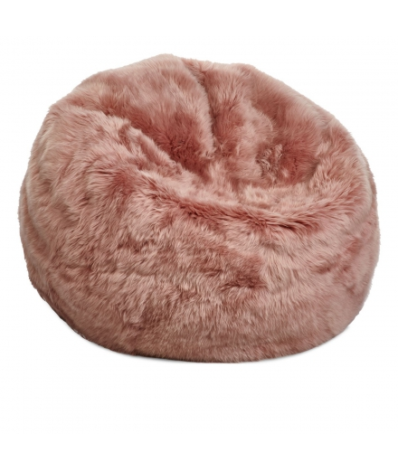 NC - Beanbag, NZ Long-Wool Sheepskin: Rosa