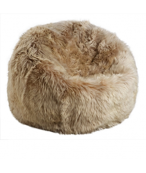NC - Beanbag, NZ Long-Wool Sheepskin: Linen