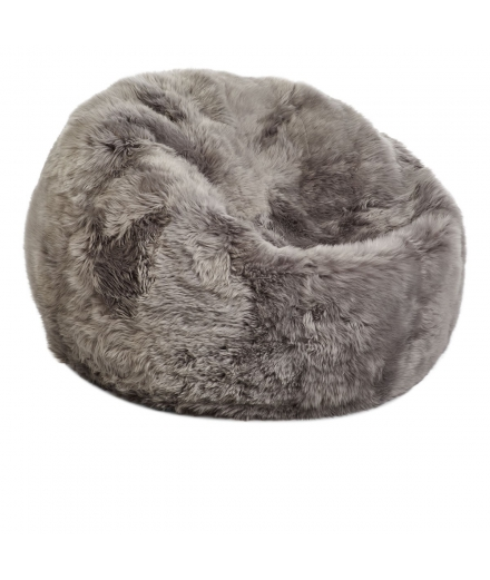 NC - Beanbag, NZ Long-Wool Sheepskin: Light Grey