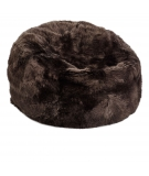 NC - Beanbag, NZ Long-Wool Sheepskin: Chocolate