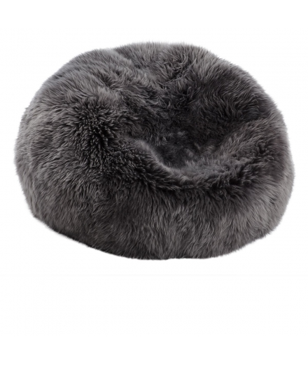 NC - Beanbag, NZ Long-Wool Sheepskin: Steel