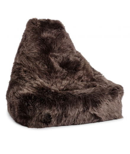 NC - Chair Beanbag, NZ Long-Wool Sheepskin: Walnut
