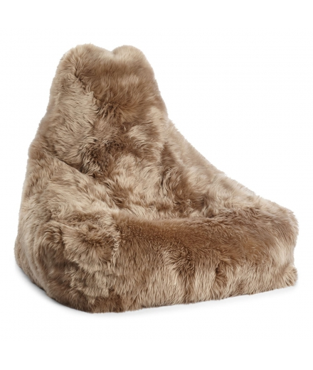 NC - Chair Beanbag, NZ Long-Wool Sheepskin: Taupe
